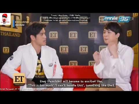 [Eng Sub] Funny Krist imitating fans' reaction (ET Thailand interview cut)