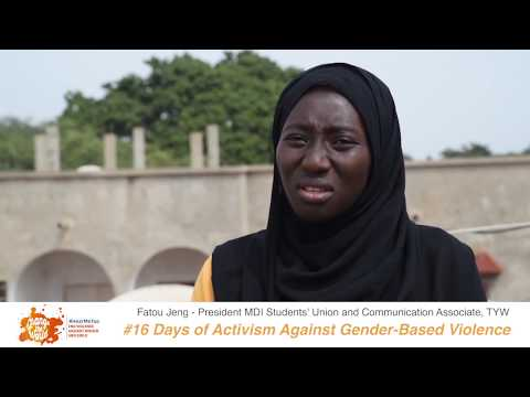 President of the MDI Students' Union, Ms. Fatou Jeng, shares her #iBelieve message for 16 Days of Activism Against GBV