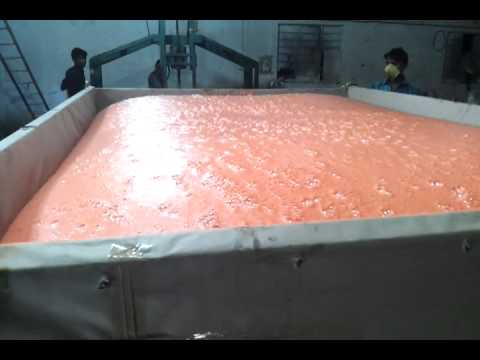Bed Manufacturing Process with Latex Foam Rubber All Na