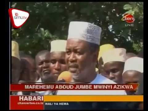 Marehemu Aboud Jumbe Azikwa Zanzibar