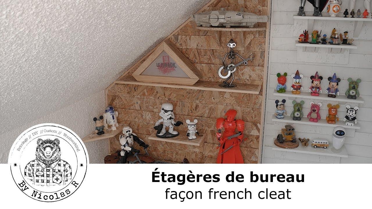 Etagères de bureau façon french cleat [by nicolas r] youtube