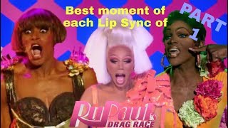 Best moment of each LIP SYNC of RPDR // PART 1