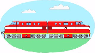Раскраска видео поезда