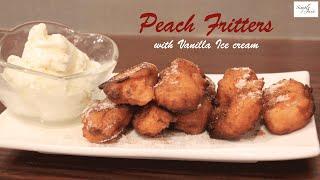 Peach Fritters Recipe | Dessert | Simply Jain