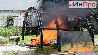 установка водяного пожаротушения конвейера
