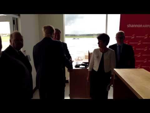Donald Trump turning his back on Michael Noonan