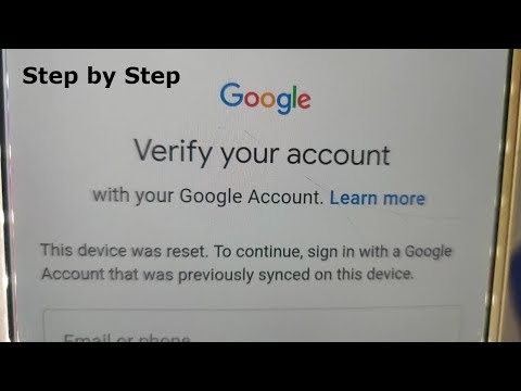 Step By Step 2019 Bypass Google Account Verification SAMSUNG J5,J7,A5,A7,A8,S6,S7,ON5,ON6,ON8,J3,