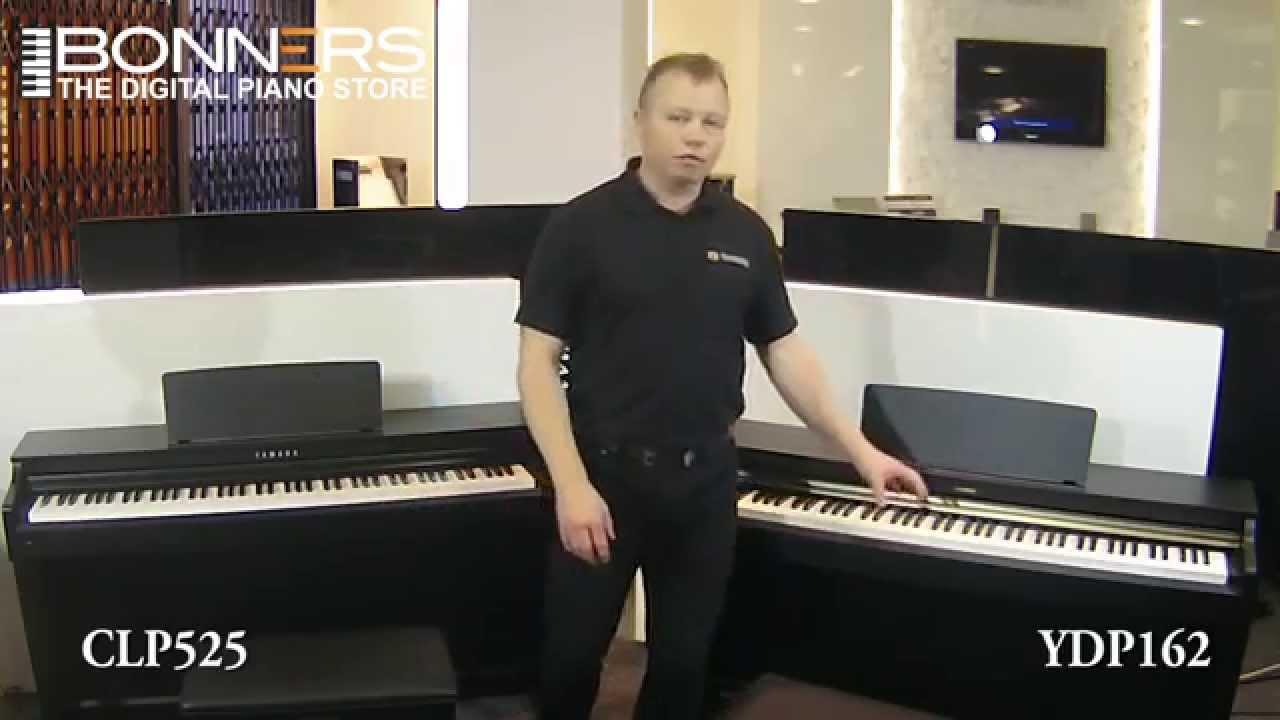 yamaha arius ydp162 vs clavinova clp525 digital piano