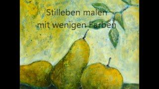 Still Life - Stilleben mit wenigen Farben -  der Hintergrund