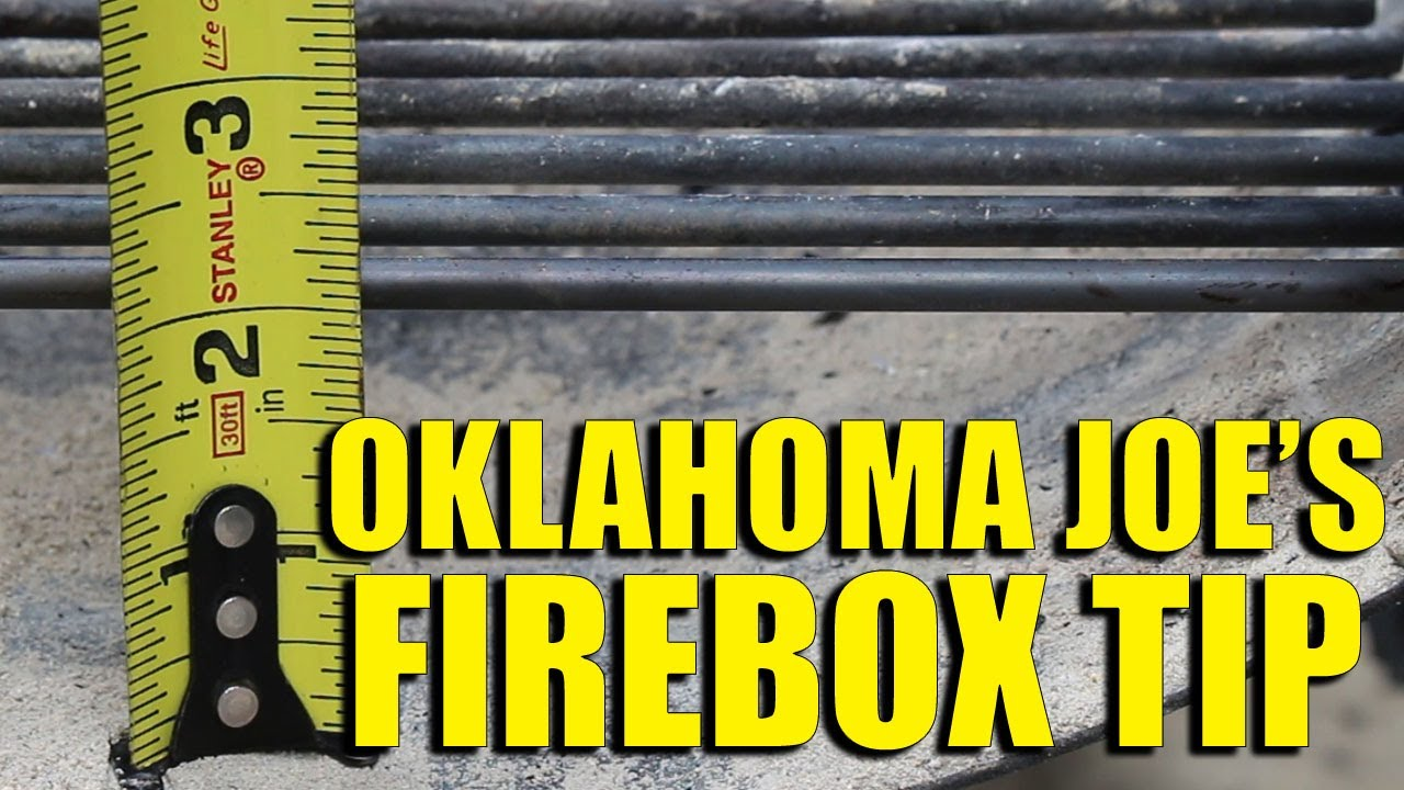 Oklahoma Joe's Smoker Firebox Tip For Better Airflow