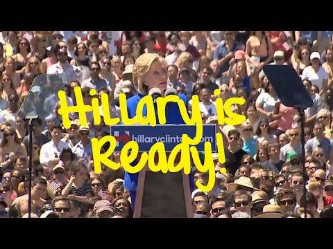 FULL VIDEO - Hillary Clinton Speech at Campaign Rally on Roosevelt Island in NYC - June 13, 2015