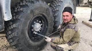 Геморойная установка запаски на Автокран КАМАЗ )