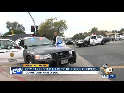 City Takes Steps To Recruit SDPD Officers