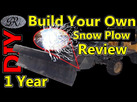 ★DIY Build Your Own Snow Plow 1 Year Build Review / Modification / Fabrication / Repair