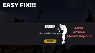 ||FULLY FIXED||PUBG LITE SHOWING REGION UNAVAILABLE AFTER OFFICIAL LAUNCH ON 4th JULY|1 min FIX!!