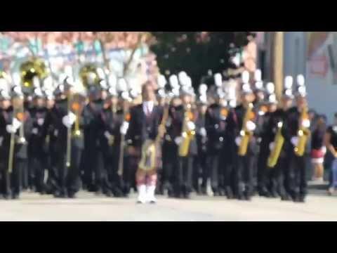 San Mateo High School Marching Band/Colorguard Santa Cruz Review October 2014