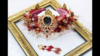 Свадебная корона, видео обзор. Bridal handmade tiara
