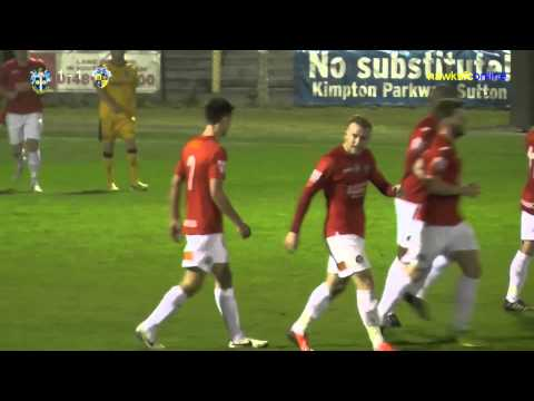 Sutton Utd v Havant & Waterlooville goals  April 2014