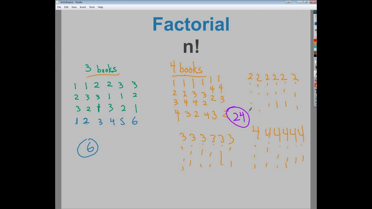 Factorial Notation - n! - YouTube