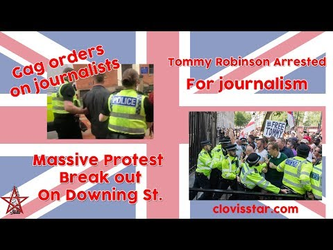 Reporting on Tommy Robinson arrested in the UK for filming