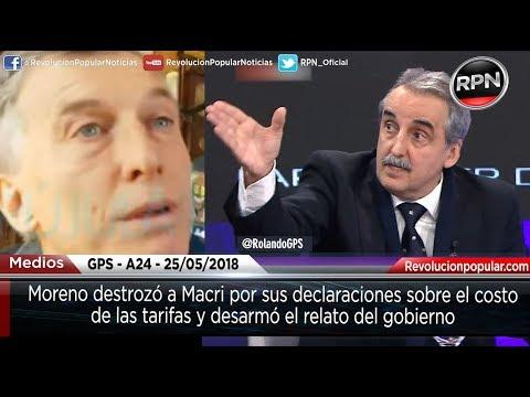 Moreno destrozó a Macri por sus declaraciones sobre el costo de las tarifas