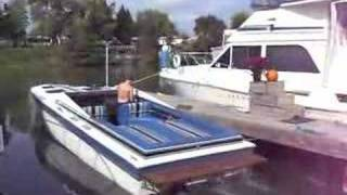 Nice sound starting up cigarette boat