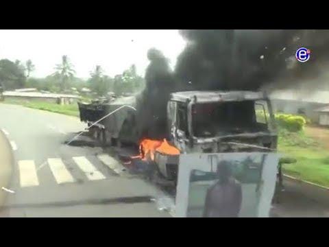 A travel through Konye to Mamfe area - narrated by Ambassador- Destruction by la Republique forces!