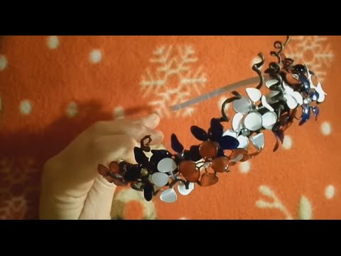 Украшения в виде цветов - из проволоки и лака для ногтей