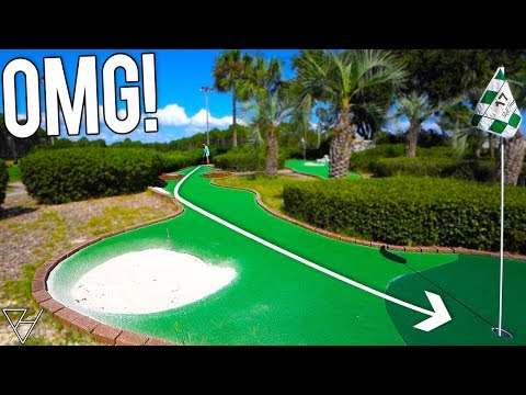 Taking On A Professional Mini Golf Putting Course!