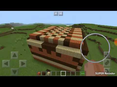 Играем Minecraft и строим дом из 3 - х блоков
