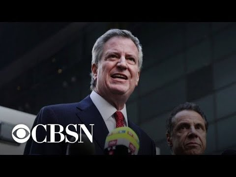 New York City Mayor Bill de Blasio announces 2020 presidential run
