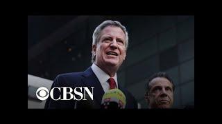 New York City Mayor Bill de Blasio announces 2020 run