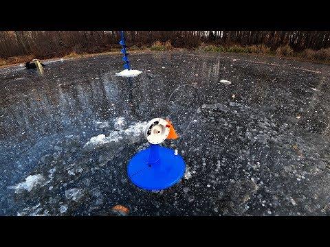 Разведка лесного озера. Ловля на безнасадку. Ловля живца. Жерлицы. Первый лед.