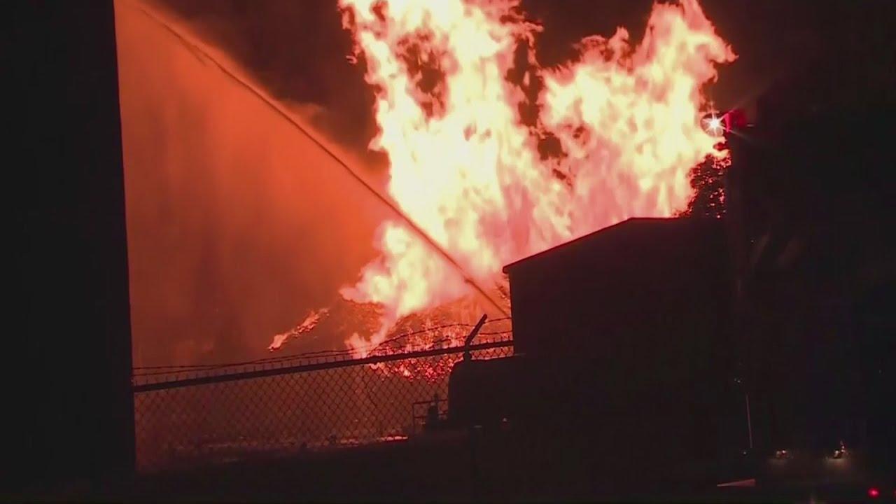 Thousands of barrels of Jim Beam bourbon burn in Kentucky warehouse fire