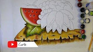 Novo Projeto – Aprenda a Pintar Madeira Rustica e Melancia