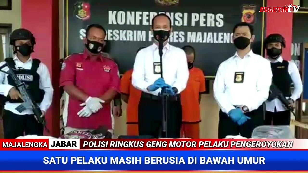 Buletin TV | Satreskrim Polres Majalengka Ringkus 3 Anggota Geng Motor Pelaku Pengeroyokan