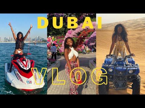 NEW YEARS IN DUBAI VLOG  Five Palm Jumeirah, Jet Skiing, Fireworks, Dinner in the Sky, Safari +more!