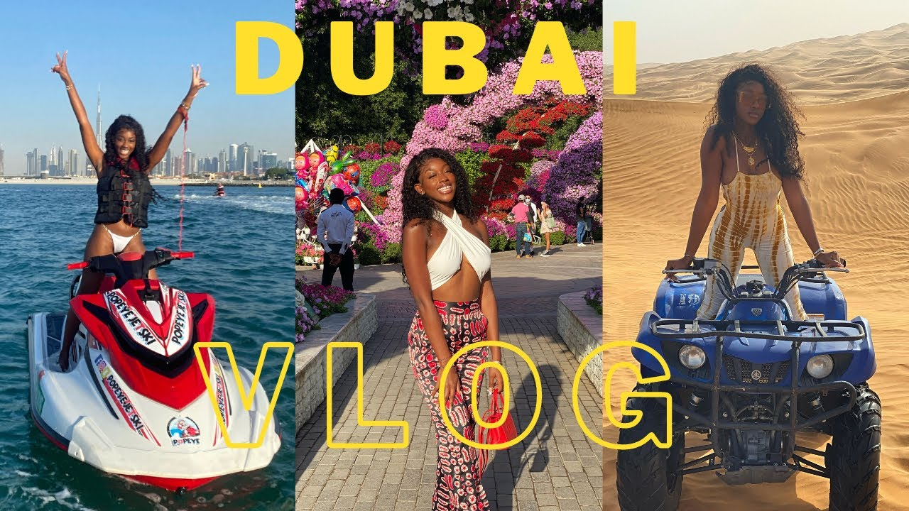 NEW YEARS IN DUBAI VLOG| Five Palm Jumeirah, Jet Skiing, Fireworks, Dinner in the Sky, Safari +more!