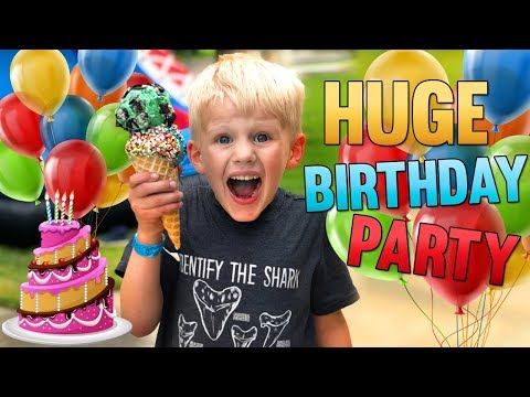 b70f2a5a99e Birthday Party! Huge Carnival for Michael, David, Owen!! - YouTube