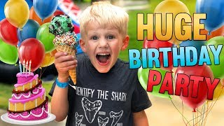 Birthday Party! Huge Carnival for Michael, David, Owen!!