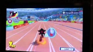 Mario et Sonic aux jeux olympiques London 2012 100 m
