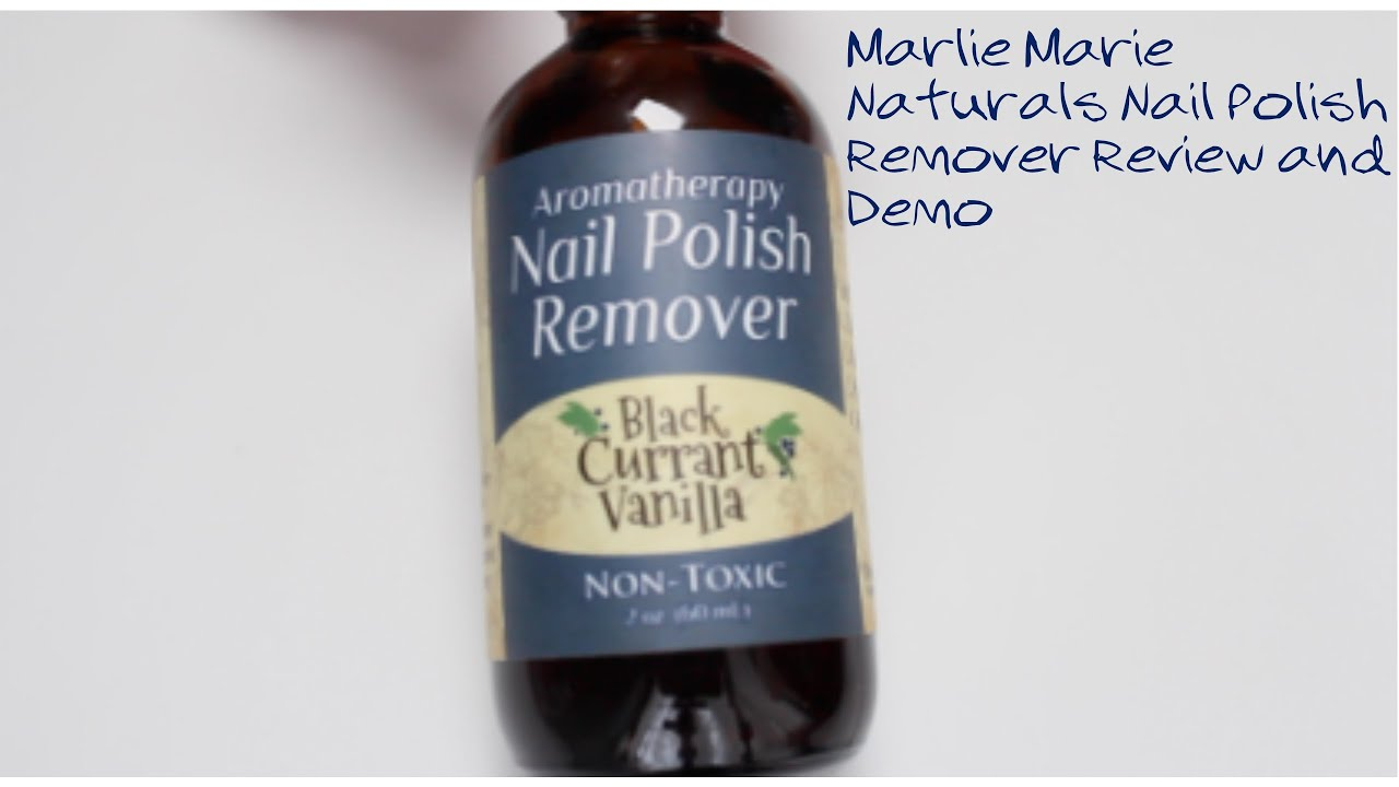 Marlie Marie Naturals Nail Polish Remover Review and Demo - YouTube