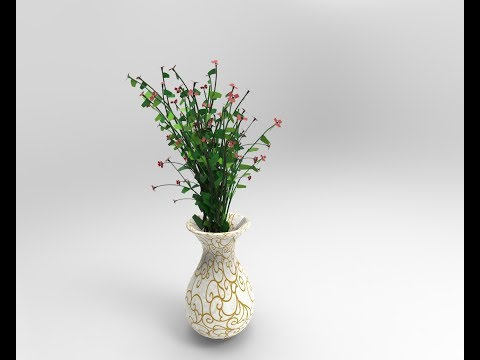 how-to-model-and-texture-flower-potted-plant-in-maya-using-mental-ray