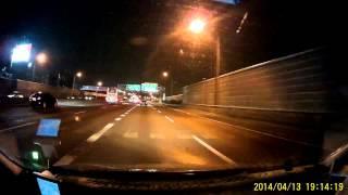 偵察兵V6行車紀錄器 夜間高速公路測試