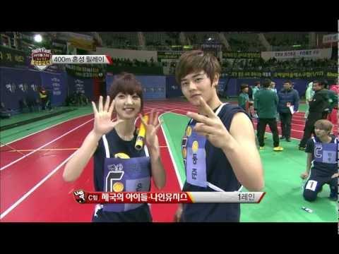 Kpop Star Championships - 400M Coed teams Relay, 아육대 - 400M 혼성 릴레이 20130211