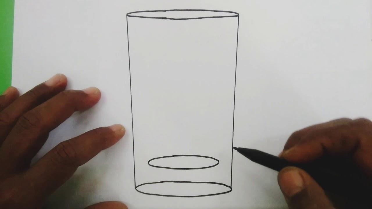 Cara Menggambar Gelas Kaca Yang Sederhana Dan Mudah Youtube