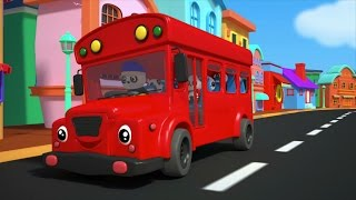 the wheels on the bus go round and round | nursery rhymes | bus song | kids rhymes