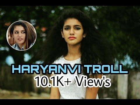 √ Priya Prakash troll on HaRyaNvi Song ||Meri ma ne bandha Dora||MD KD Feat YoGesh Chaudhary Pataudi