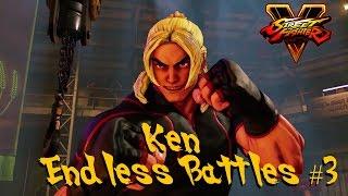 [PS4] Street Fighter 5 (Beta): Ken Endless Battles #3 Gameplay【HD 】