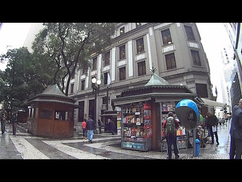 Walking on the pedestrian streets of Brazil - Sao Paulo City